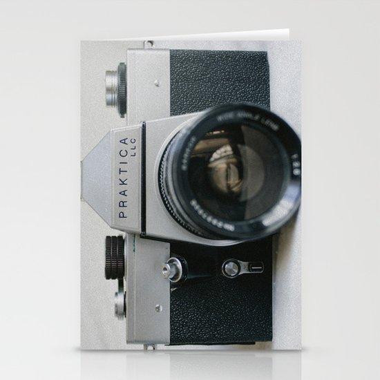 Praktika 35mm Vintage Camera Stationery Card