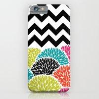 Tropical Flowers Chevron iPhone 6 Slim Case