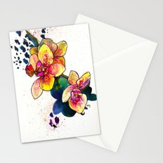 Inky Orchid Stationery Cards