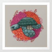turtle Art Prints featuring Turtle by ErDavid