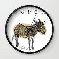 A  E  I  O  U    Borriqu… Wall Clock
