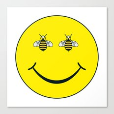 Bee Happy  - Living Hell Canvas Print