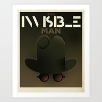 Cassandre Spirit - The invisible Man Art Print