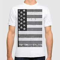 Flag Mens Fitted Tee Ash Grey SMALL