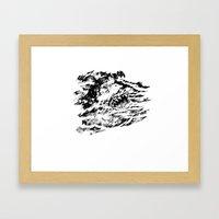 Dark Water Framed Art Print