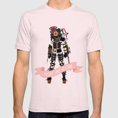 Fight Like a Girl: Big Sister Mens Fitted Tee Light Pink SMALL