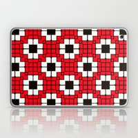 Retro Mosaic Red & Black Laptop & iPad Skin