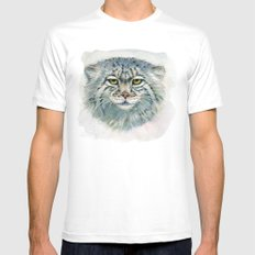 Pallas's cat 862 Mens Fitted Tee White SMALL