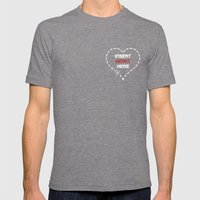 Insert Heart Here Mens Fitted Tee Tri-Grey SMALL