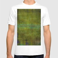 Green burrows ~ Abstract Mens Fitted Tee White SMALL