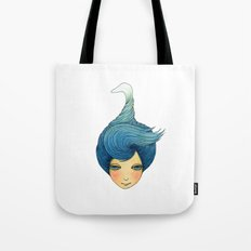 the girl with swan hair Tote Bag
