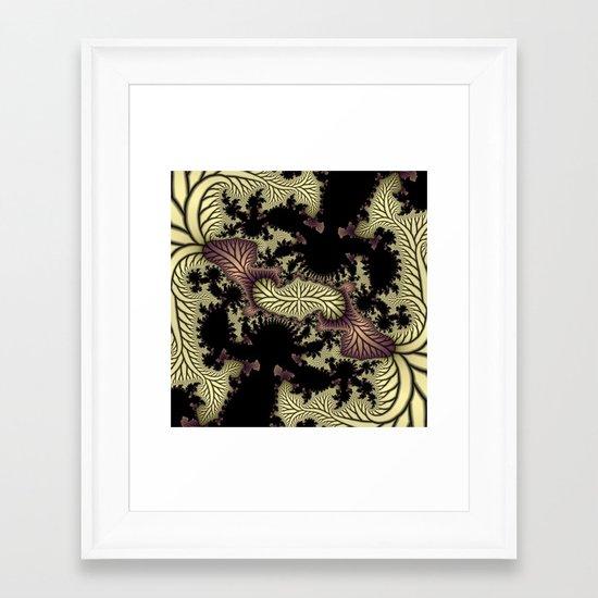 Leaf fractal Framed Art Print