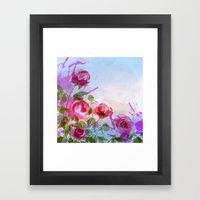 Joyful Flowers Framed Art Print