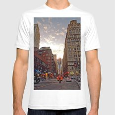 Up From Below White Mens Fitted Tee SMALL