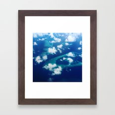 Islands and Clouds Framed Art Print