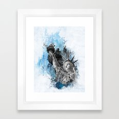 Lady Liberty Framed Art Print