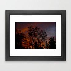 Sunset on the Front Porch Framed Art Print