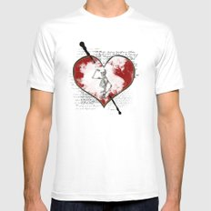 Heart #2 Mens Fitted Tee SMALL White