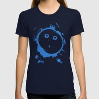 Mother Earth Womens Fitted Tee Navy SMALL