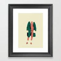 Pink&green Framed Art Print