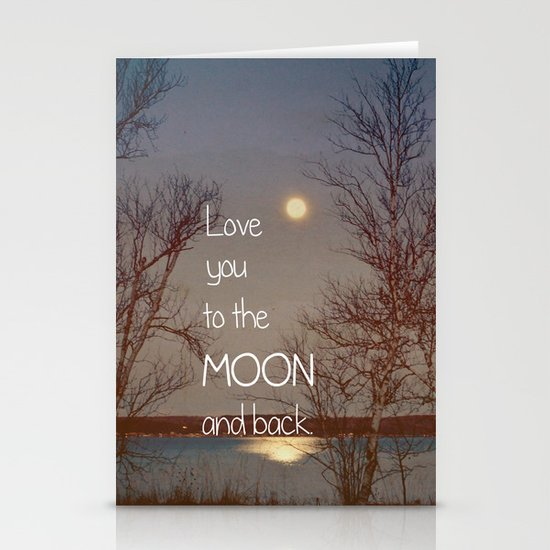 To the Moon and Back Stationery Card