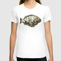 fish T-shirts featuring fish by Кaterina Кalinich