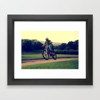 Bike Hop Framed Art Print