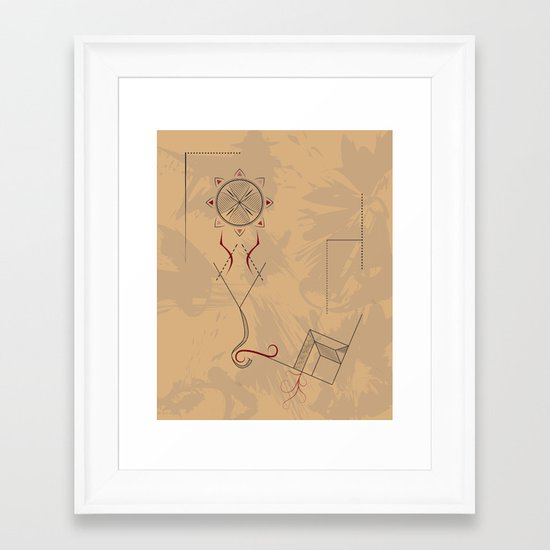 21st Century Hieroglyph Framed Art Print