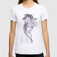Raven Moon Womens Fitted Tee Ash Grey SMALL
