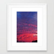 Bloody Sky Framed Art Print
