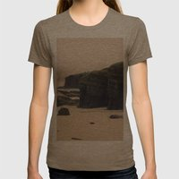 Las Catedrales Womens Fitted Tee Tri-Coffee SMALL