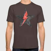 BlackStarMan (waiting In… Mens Fitted Tee Brown SMALL