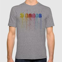 Retro Rainbow Mens Fitted Tee Athletic Grey SMALL