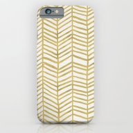 Gold Herringbone iPhone 6 Slim Case