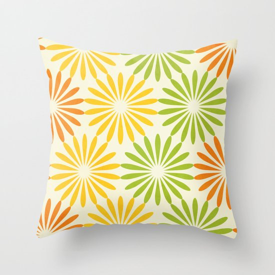 Zesty Burst Throw Pillow