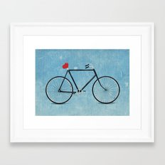 I ♥ BIKES Framed Art Print