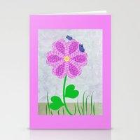 Une Fleur Avec Deux Papi… Stationery Cards