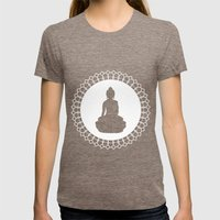 Buddha Womens Fitted Tee Tri-Coffee SMALL