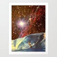 Surf Session Art Print