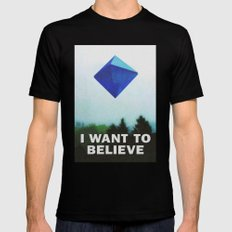 I WANT TO BELIEVE - 5TH ANGEL Mens Fitted Tee Black SMALL