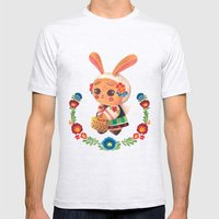 The Cute Bunny in Polish Costume Mens Fitted Tee Ash Grey SMALL