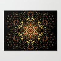 Christmas Tree Fractal Canvas Print