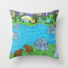 Pine Forest Throw Pillow