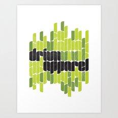 Drivn Apparel, leaves 18x24 Art Print