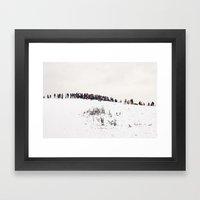 Winter in the park Framed Art Print