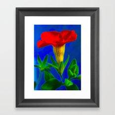 orange & blue Framed Art Print