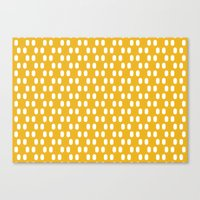 Canvas Print featuring Aelbrecht Yellow Pattern by Stoflab