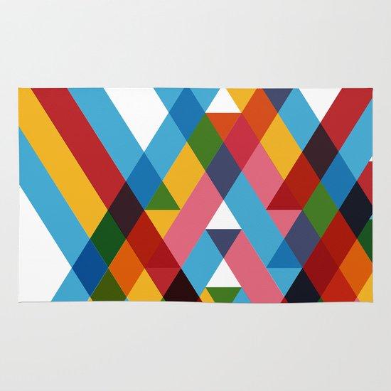 Ribbons Overlay ///www.pencilmeinstationery.com Area & Throw Rug
