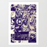 Comic Land Art Print