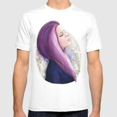 Pink hair Mens Fitted Tee White SMALL